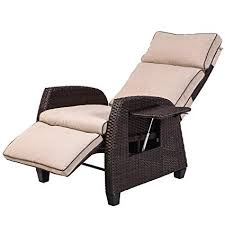 relaxing furniture. LCH Adjustable Recliner Relaxing Sofa Chair Outdoor Winker Furniture Aluminum Frame Lounge With Beige Soft Thicken