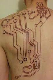 circuit tattoo tattoo stuff awesome aesthetics circuit tattoo