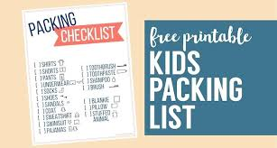 Family Vacation Packing List Template Lytte Co