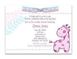 Beautiful Cute Pink Invitation White Background Baby Shower Invite Display Baby Shower Wording