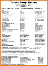 Special Skills On Resume Acting Resume Special Skills Examples Musical Theatre How Do You 28
