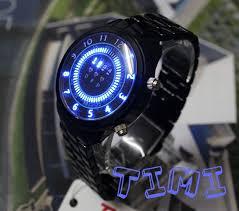 aliexpress com buy fashion watch flash pimp star performer led 2012 black case blue binary led mens watch xmas gift ship