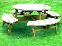 wooden picnic table round wood picnic table round picnic table plan wood for picnic tables clever wooden picnic table
