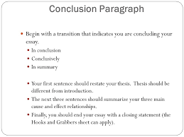 essay format cause and effect writing introduction hook hook  conclusion paragraph begin a transition that indicates you are concluding your essay