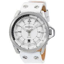 diesel rollcage white dial leather men s watch dz1755 diesel diesel rollcage white dial leather men s watch dz1755