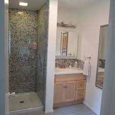 bathroom full mosaic small tiles wet room decoration ideas wtih modern shower and corner design