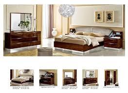 functional bedroom furniture. onda bedroom set walnut bed 2 nightstands double dresser and mirror functional furniture