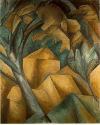 in 1907 he first experienced the work of cezanne met picasso and began painting the landscapes that would name him a founder of the cubist movement
