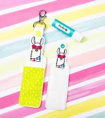 Lip Balm Holder Embroidery Design Llama Head Lip Balm Holder Awesome Ideas Machine