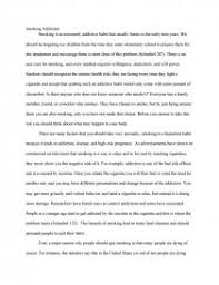 smoking addiction research paper zoom