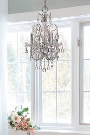 crystorama 3224 ch cl mwp 4 light polished chrome crystal mini chandelier dd