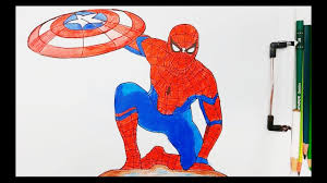 Print spiderman coloring pages for free and color our spiderman coloring! Spider Man Draw And Painting Color Pencil And Marker Youtube