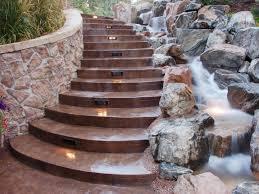 fireplace motion sensor outdoor stair lights paved stairs besides step lighting ideas beautiful mini stream