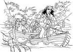 Распечатать раскраски пираты карибского моря