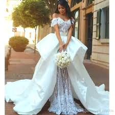 italian wedding dresses. Romantic Italian Style Wedding Dress Off Shoulder Beaded Short