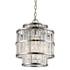 3 light polished chrome chandelier with clear shade