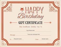 birthday gift certificate for ms word at certificatesinn
