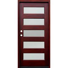 5 Panel Wood Exterior Door