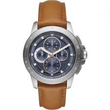 michael kors men s ryker chronograph tan leather watch
