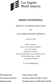 Lawa Org Chart Request For Proposals Security Systems Consultant Los