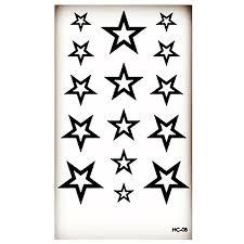 1ks Hc08 Pěticípá Hvězda Nového Designu Fashion Dočasné Tetování Nálepky Dočasné Body Art Vodotěsný Tetování Vzor