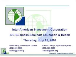 Inter American Development Bank Overview Of The Inter