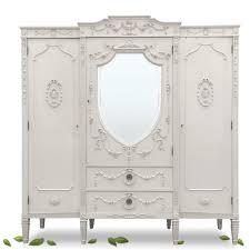 Kleiderschrank Schrank Antik Groß Klassizismus Weiß