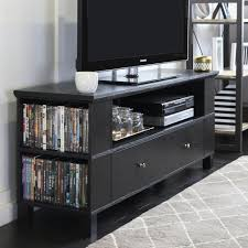 Walker Edison Furniture Company Columbus Black Entertainment Center Black 65 Inch Tv Stand D98