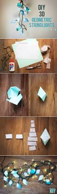 Image Hanging String Light Diy Ideas For Cool Home Decor 3d Geometric Hexahedron String Lights Are Fun For Teens Room Dorm Apartment Or Home Diy Projects For Teens String Light Diy Ideas For Cool Home Decor 3d Geometric