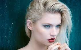 Blonde hair blue eyes ...