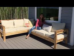 how to build a 2x4 outdoor sectional