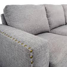 ... buy INSPIRE Q Grey Linen Nailhead Track Arm Sofa INSPIRE Q Classic  Sofas ...