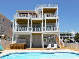 home pool tiki bar. Holden Beach House Rental Home Pool Tiki Bar