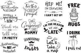 The global community for designers and creative professionals. Newborn Bundle Graphic By Svg Addict Shop Creative Fabrica Graphic Baby Onesies Svg Baby Girl Onsies
