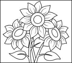 Small Picture Sunflower Coloring Page Printables Apps for Kids