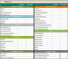 Monthly Budgets Spreadsheets Free Monthly Budget Template Template Business