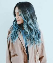 Blue Dip Dye On Light Brown Hair Dark Blue Hair Dye On Brown Hair Find Your Perfect Hair Style