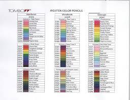 Irojiten Color Pencil Chart In 2019 Color Pencil Art