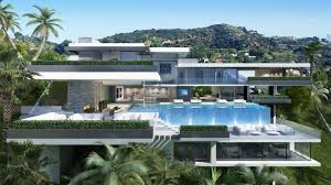 modern mansions. Modern Mansions Sunset Plaza Drive Plan House E