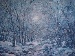 Radiant Snow Scene Painting By Leonard Holland