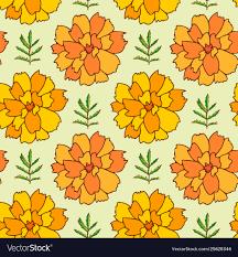 Marigold Floral Design Marigold Seamless Pattern Floral Background For