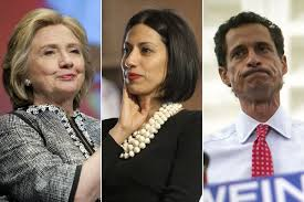 Image result for weiner and clinton