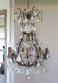early 1800s french antique bronze crystal electric chandelier showstopper antique lighting chandelier wall sconces beaded french vintage shabby chic