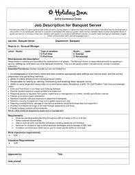 cover letter server objective resume tail food server job description