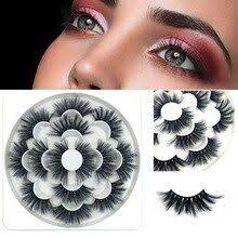8D 7Pairs Luxury False mink eyelashes Fluffy Strip Eyelashes Long ...