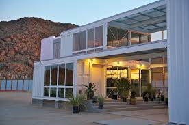Container Home Design First Shipping Container House In Mojave Desert By Ecotech Design