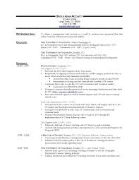 Cal Poly Resume Examples Early Career Resume Example Section Sample Ooxxoo Co