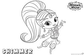 Shimmer And Shine Coloring Pages Shimmer And Shine By Classy World