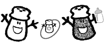 mr salt blues clues. Mr. Salt \u0026 Mrs. Pepper And Baby Paprika Coloring Page Mr Blues Clues