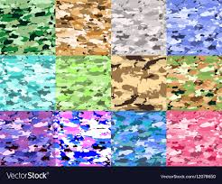 Military Camouflage Patterns Interesting Military Camouflage Patterns Set Hand Royalty Free Vector